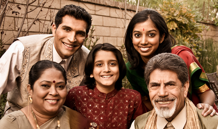 South Asian Indian Family Dinner